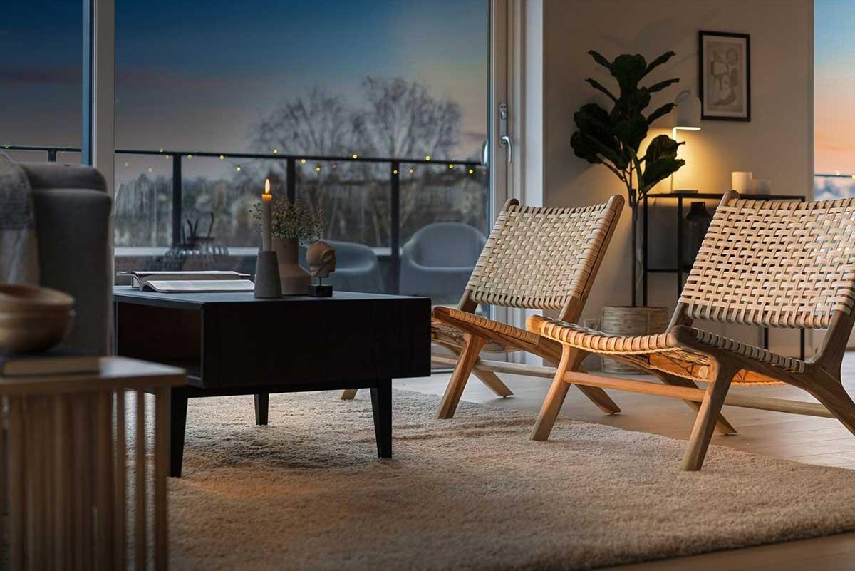 Interiørdesign bolig interiør stue