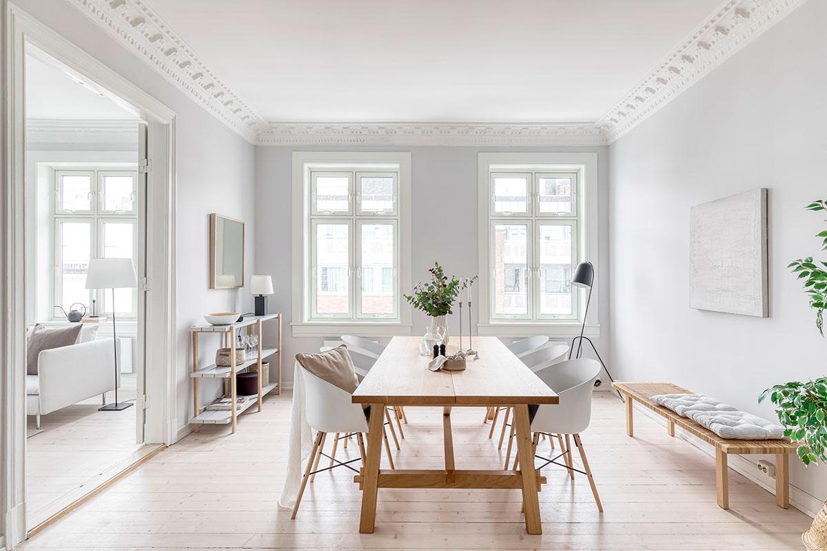 interiørdesign styling bolig spisebord